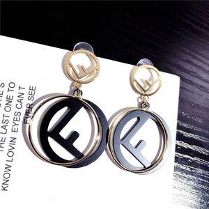 Narin FF Küpe Bayanlar INS Stil Yuvarlak Kolye Küpe için Parti Gelgit Marka Kadın Küpe