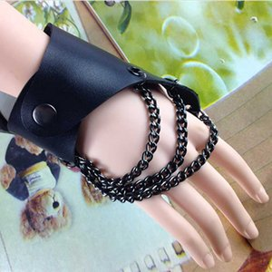 COLEMJE Chain Multi Layer Hiphop Bracelet Jewelry Double Button Adjustable Street style Circles Cross Ball PU Leather Material