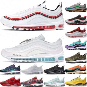 2020 Top Quality 97 Undefeated OG Mens Running Shoes Airs Cushion Sneakers 97s Mschf X Inri Graphical Theme Sports Trainers Maxes Size 36-45