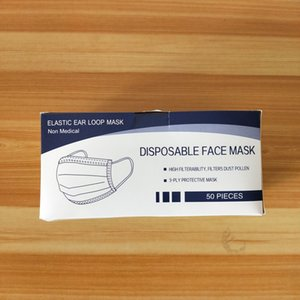 Disposable Masks 3 Layers Dustproof Facial Protective Cover Mask Face Mouth Masks Anti-Dust Disposable Salon Earloop Mouth Mask LXL1352-2