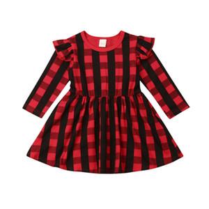 Toddler Girl Christmas Dress clothes Princess Party Red Plaid Tutu Dresses Xmas Holiday Suit