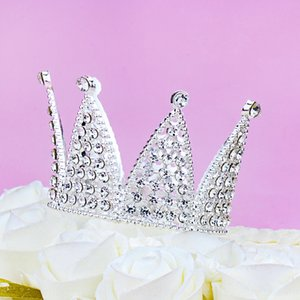 Gold silver alloy children's crown performance hair ring decorations cake Baked headdress jewelry headdress baking ornaments
