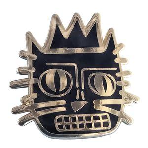 Jean Michele Basquiat Kedi Yaka Pin Rozeti