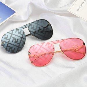 NOVO FF Full frame Adumbra Photochromic óculos European American ins clássico da moda retro de metal sapo espelho óculos de sol beleza cabeça VE2150