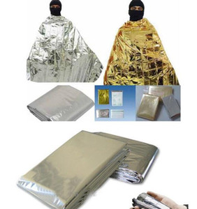 Wholesale Portable WaterProof Emergency Blanket Survival Challenge Shelter Rescue Blanket Foil Thermal Space First Aid Rescue Curtain