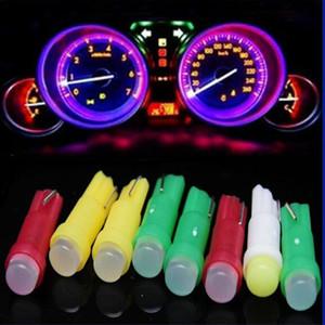 Araba LED Ampul T5 1SMD Araba Cob LED Enstrüman Işık Göstergesi Ampul Araba Işık Otomotiv İç Ortam Işığı Aksesuar