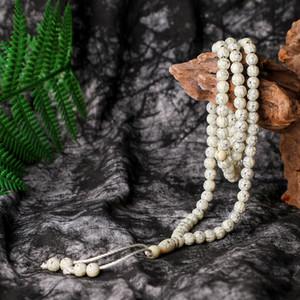 Hot sale Middle East Islam 8mm   99 luxurious silver flower rosary muslim bracelet for women