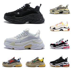 2020 nuevos zapatos de diseño triple s para hombres mujeres zapatillas de deporte vintage negro blanco Bred rosa 20fw lujo para hombre zapatillas grandes únicas zapatillas deportivas