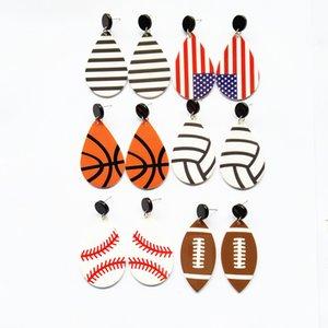 küresel küpe akrilik malzeme Küpe futbol basketbol Küpe bireysel sporlar ABD Bayrak küpe OrnamentsT2C5141