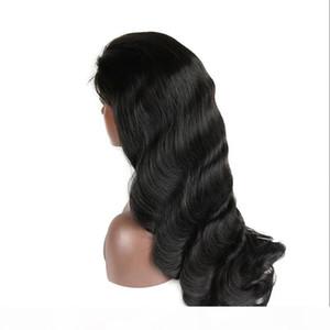 Brazilian Full Lace Human Hair Wigs Body Wave Pre Plucked Lace Wigs For Brazilian Black Women Shipp by ePacket 1B Color