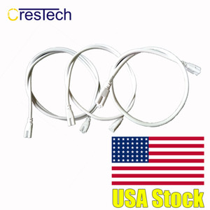 T5 T8 lâmpada LED de ligação de cabos eléctricos integrados de fio LED para Ligações de encaixe de suporte 0.3 m 0.6 m 1M (39 polegadas))