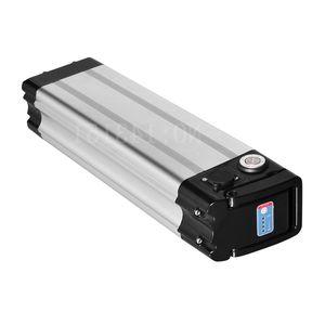 Livraison gratuite Down décharge argent poisson batterie vélo pliant 48V 17AH haute qualité batteries pour 350W à 1000W moteur + chargeur