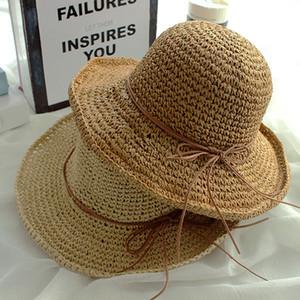 Женщины девушки Зонт Hat с группой Японии и Южной Кореи ретро Wild Side Wave Fisherman Hat для леди отдыха и путешествий на открытом воздухе шляпу VT0132