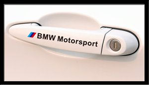 M Motorsport Stickers Car Handle Sticker Badge Decals for BMW m3 m5 E34 E36 E60 E90 E46 E92 BMW E39 X3 X5 X1 X6 car styling Free Shipping