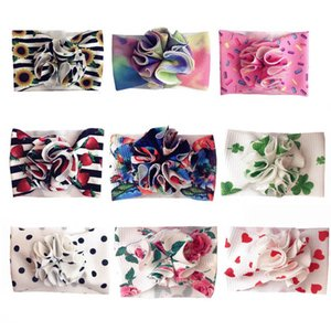 Dots baby headbands floral girls designer headbands soft girls headband flower designer headband baby girl hair accessories B1208
