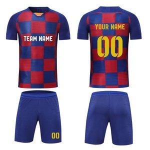 2020 HOMENS Soccer Jersey Player Versão Magro Football Kits DIY Customize Training Suit imprime o nome do número da equipe Log shirt