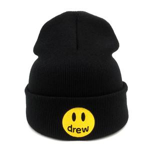 Gorros Casual Justin Bieber dibujó la casa de algodón para mujeres de los hombres de punto sombrero de invierno de color sólido de Hip-hop Skullies Cap sombrero unisex