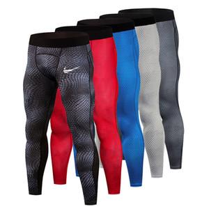 stampa di pelle di serpente Compressione pantaloni da uomo Autunno jogger Sport da palestra in esecuzione collant fitness elastico maratona pantaloni ad asciugatura rapida