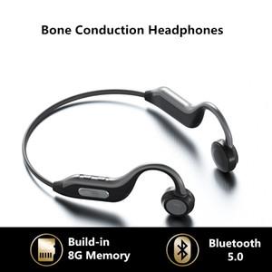 Super B1 condução óssea Fones Bluetooth Outdoor Sports impermeável auscultadores sem fios com mãos Mic fones de ouvido gratuitos build-in 8G de memória