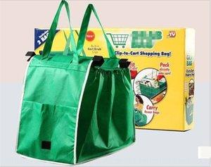 Nuevos productos de TV agarrar verde protección del medio ambiente supermercado de compras bolso del carro de compras del bolso del bolso