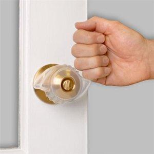 Hot 1PC Fluorescente Porta Knob Covers Maçaneta Knob capa protetora portátil Open Door ferramenta auxiliar
