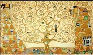 Albero della vita Gustav Klimt Pittura astratta Alta qualità dipinta a mano HD Stampato Arte su tela Pittura a olio Immagine per parete Decorazioni per la casa