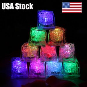Mini led noche luz simulación cubos de hielo romántico hielo Nightlight LED light up lámpara fiesta Navidad blanco amarillo rosa multicolor Navidad decorar