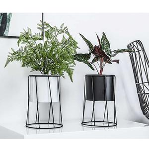 Dekoratif Metal Saksı Bahçecilik T200104 Malzemeleri Ev Masaüstü Balkon Bahçe Tesisi Tutucu Ekran Dikim Demir Çiçek Standı