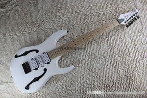Instruments de musique de haute qualité Creux Blanc Guitare corps Trois micros IBZ Guitare électrique Lefty Chine OEM sur mesure disponible