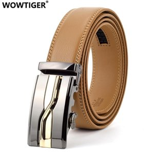 WOWTIGER Brand Designer Luxury 3.5cm Men Genuine leather belt male automatic buckle belts for men waist strap