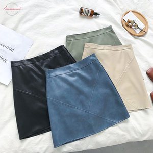 Cheap Wholesale 2019 New Autumn Winter Hot Selling Womens Fashion Casual Sexy Leather Skirt A301 Drop Shipping