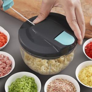 Hogar Manual de picar carne tire de la cuerda de la cocina de la carne Mezclador verduras condimento amoladora de mano del cortador de verduras 500 ml 900 ml