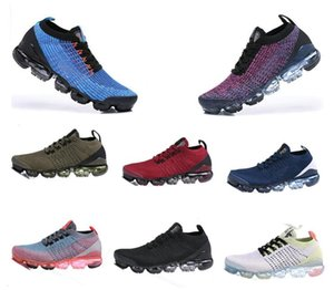 2020 2018 Chaussures Moc 2 Laceless 2.0 Laufschuhe Triple Black Designer Herren Damen Turnschuhe Fly Weiß stricken Kissen Trainer Zapatos36-45