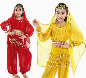 Il nuovo stile dei bambini di pancia del costume di ballo Danza Orientale costumi danzatrice del ventre vestiti Costumi per i capretti 5pcs / set