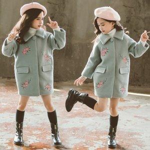 a8SaR 2019 Winter fashion new medium and large children's woolen Windbreaker wool wool coat windbreaker children's medium and long thickened