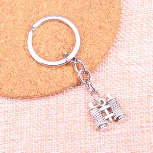 Nuovo portachiavi 14 * 15 * 3mm doppio telescopio lati ciondoli uomini auto fai da te della catena chiave del supporto dell'anello portachiavi gioielli regalo ricordo