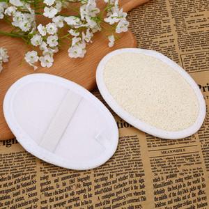Loofah الوسادة اللوف الطبيعي الغسيل إزالة الجلد الميت اللوف وسادة الإسفنج الرئيسية تنظيف أداة الجسم الجلد الاستحمام تدليك أدوات 8 * 12 سنتيمتر VT1699