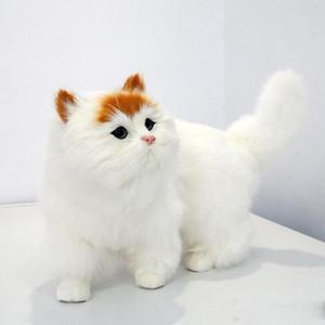 canlı sevimli hayvan kedi peluş oyuncak gerçekçi hayvanlar hayvan kedi oyuncak dekorasyon hediye 35 x 20cm