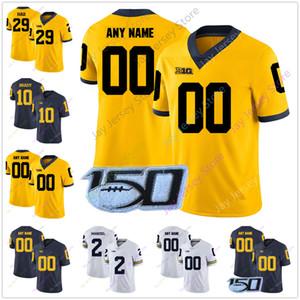 Michigan Wolverines Koleji Futbol Jersey Tru Wilson Donovan Peoples-Jones Zach Gentry Devin Bush Chase Winovich Rashan Gary 6 Josh Uche