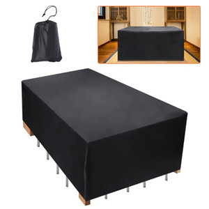 6 Sizes Oxford Cloth Furniture Dustproof Cover For Rattan Table Cube Chair Sofa Waterproof Rain Garden Patio Protective Cover