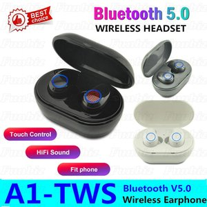 A1 TWS Bluetooth Sport Earphoneprint Touch HD Stereo wireles Bluetooth 5.0 Mini Ear Phoneons Cancelling Gaming Headset headset