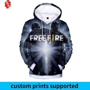 Beliebte Spiel Free Fire 3D Printed Pullover Frauen / Männer Trendy Langarm-T-Shirt Free Fire beiläufige Hoodies Plus Size