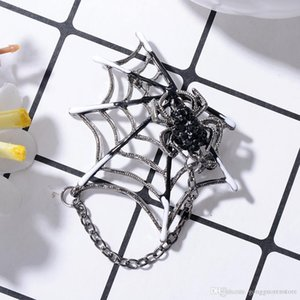 Эмаль Black Spider брошь Rock Punk Пауки Веб-образный брошь корсаж свитер воротник клип Магниты животные брошь Pins
