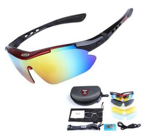 Polarizzata di riciclaggio di vetro di Sun della bicicletta Eyewear Uomo Donna Outdoor Sport Occhiali da sole Occhiali da 5 lenti bici Eyewear UV400 all'ingrosso