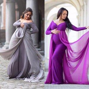 Материнское платье для фотографии реквизит родильные фотографии реквизит беременности Одежда Maxi с длинным рукавом с длинным рукавом с длинным рукавом.