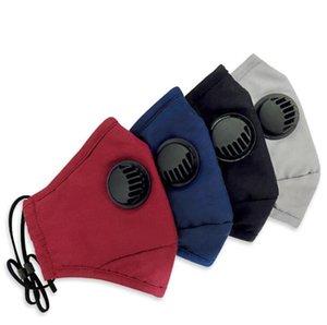 Wieder verwendet Gesichtsmasken Anti-Staub-Adjustable Mouth-Muffel Atemventil weiche atmungsaktive Outdoor-Schutz Gesicht erwachsen Designer Maske FFA3825