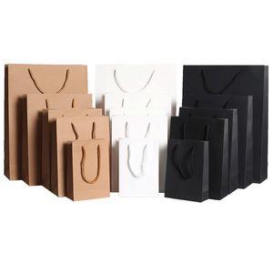 Kraft Paper Bag Durable Einkaufs Kraft Paket-Beutel DIY Geschenk-Beutel Brown Kraft Paper Bag mit Griffen