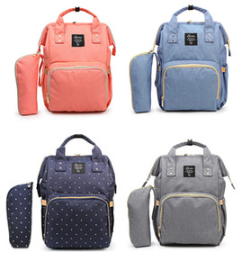 Wholesale Baby Diaper Bag Large Capacity Nappy Bag Waterproof Mommy Travel Nursing Backpack & Wristlet Bag 9 colors