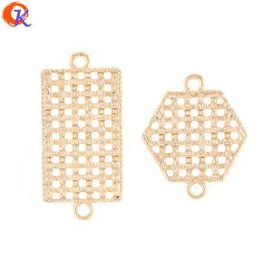 venta al por mayor 100 piezas de fabricación de joyas / accesorios para pendientes / forma de geometría / piezas de bricolaje / conectores para pendientes / hechos a mano / resultados de pendientes