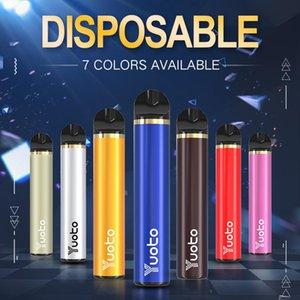 Yuoto vara descartável Vape Pen dispositivo Pods Starter Kit 1500 sopros 900mAh Battey 5ml Cartuchos ecigarette descartáveis bar soprar mais brilho
